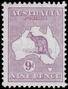 Australia Scott 50 (1915) Mint VLH VF, CV $70.00 M