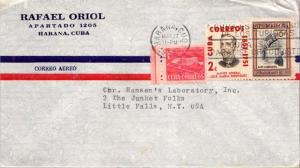 Cuba 1c Proposed Communications Building Postal Tax, 2c General Rodriguez and...