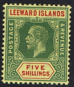 LEEWARD ISLANDS 1912 KGV 5/- WMK MULTI CROWN CA