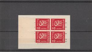 Finland  Scott#  173  MNH  Booklet Pane  (1936 Lion Type)
