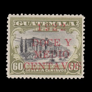 GUATEMALA STAMP 1922 SCOTT # 179. UNUSED.