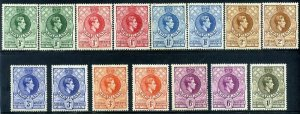 Swaziland KGVI 1938 Part set SG28 to SG35 Mounted Mint