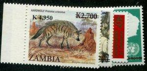 HERRICKSTAMP ZAMBIA Sc.# 1111-14 Overprints Mint NH