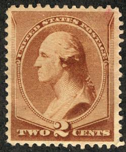 US #210 SCV $500.00 XF mint never hinged, extremely well centered, full fresh...