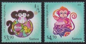 Samoa 1215-1216 MNH (2015)