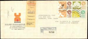 MEXICO 1987 REGISTERED EXPORTA ISSUES