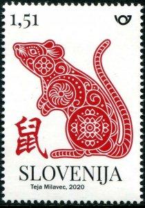 HERRICKSTAMP NEW ISSUES SLOVENIA Sc.# 1371 Year of the Rat