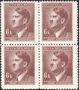 Stamp Germany Bohemia B&M Mi 105 Sc 78 Block 1942 WW2 3rd Reich Hitler MNH