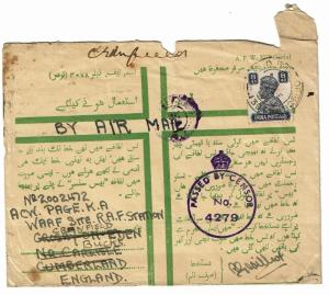 India 1943 Military Censored Cover - Lot 101517