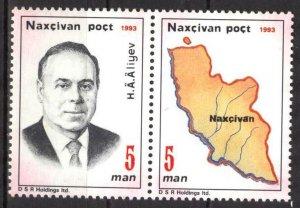 Azerbaijan / Nakhichevan 1993 President of Azerbaijan Haidar Aliev Set 2 MNH**