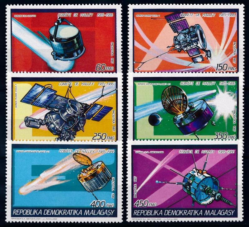 [64455] Madagascar 1987 Space Travel Weltraum Halley Comet  MNH