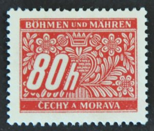 Czechoslovakia – Bohemia & Moravia Scott #J8 – UNUSED