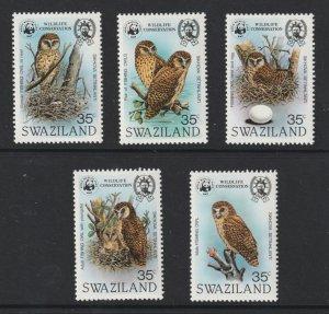 Swaziland the 1982 Owls set MNH