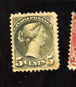 CANADA #38A MINT FVF OG PAPER HR STAIN Cat $1,250