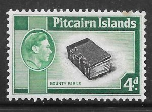 Pitcairn Islands 5A: 4d Bounty Bible, MH, F-VF