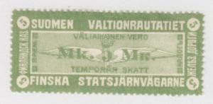 Finland HS V6x MLH. 1915-17 5m State Railway Tax Stamp