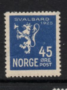 Norway Sc 114 1925 45 ore Lion, Annexation of Spitsbergen, stamp mint