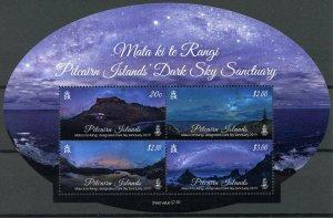 Pitcairn Islands 2019 MNH Dark Sky Sanctuary Mata Ki Te Rangi 4v M/S Stamps