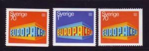 Sweden Sc 814-6 1969 Europa stamp set mint NH