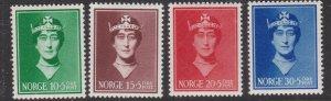 NORWAY^^^^^1939  sc# B11-B14  MNH SEMIS POSTALS set $$@ lar 1270nor