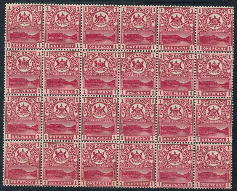 CAPE OF GOOD HOPE 1900 TABLE MOUNTAIN 1D  MNH ** BLOCK