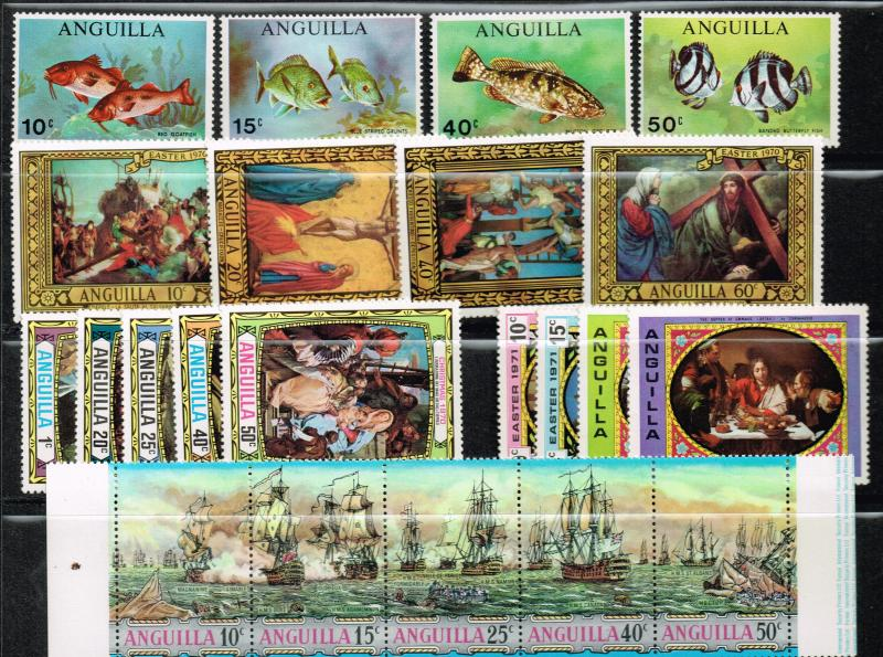 Anguilla Collecton of Mint NH/VLH Hugh amount of stamps