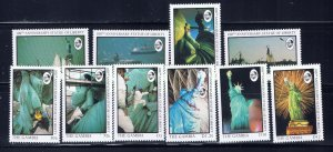 Gambia 677-86 MNH 1987 Statue of Liberty
