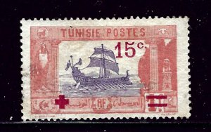 Tunisia B17 Used 1918 surcharge  some gum on back
