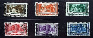 ♗Vatican City, 1938, SG63-68, Archaeological Congress, Set of 6, Used, #V003