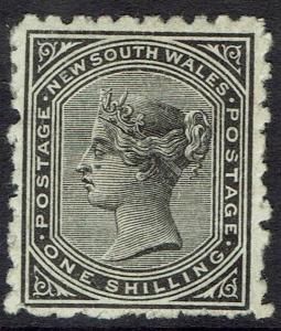 NEW SOUTH WALES 1882 QV 1/- WMK CROWN/NSW SG W40 PERF 10
