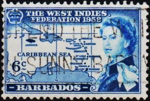 Barbados. 1958 6c S.G.304 Fine Used