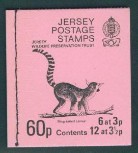 Jersey Stanley Gibbons SB19 Wildlife Lemur Booklet 1974