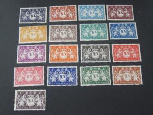 French Guiana 1945 Sc 173-91 MH