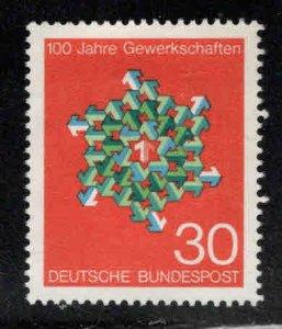 Germany Scott 991 Mint No Gum Trade Union stamp