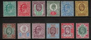 Great Britain Stamp Set Scott #127 to 138 (127-38), Mint Hinged, Definitive I...