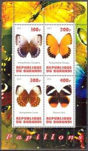 Burundi 2010 Butterflies MNH Cinderella !