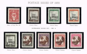 ITALY VATICAN CITY MH/OG STAMPS COLLECTION LOT #3 1933 ISSUES