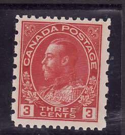Canada-Sc#184- id5-Unused NH og 3c KGV Admiral Provisional-1931-