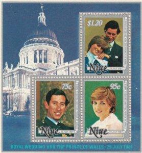 Niue MNH S/S 342A Princess Diana's Royal Wedding 1981