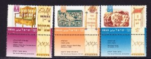 Israel #1242 - 1244 Festivals MNH Singles with tab
