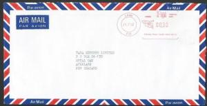 FIJI 1992 airmail cover to NZ, LAMU meter..................................14131