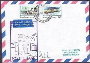 NEW ZEALAND ANTARCTIC 1985 Scott Base signed cover  (35092)