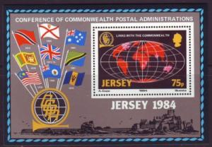 Jersey Sc 329 1984 Commonwealth Links stamp sheet  NH