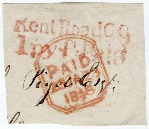 (I.B) QV Postal : Early Postmark (Kent Road - 1846)