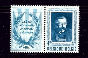 Belgium B521 MLH 1952 issue with label