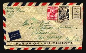 Peru 1939 Airmail Cover to USA / Light Creasing - Z14634