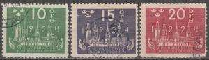 Sweden  #198-200 F-VF Used CV $26.75 (S976)