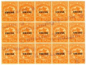 (I.B) Australia - Victoria Revenue : Swine Duty £1 (1960)