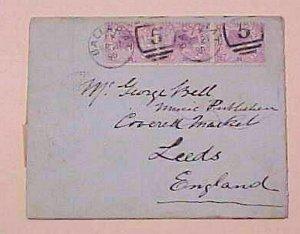 AUSTRALIA VICTORIA 1890 BALLARAT B/S BRITISH MAIL TPO TO ENGLAND