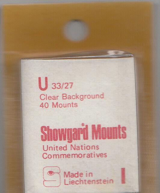 SHOWGARD CLEAR MOUNTS U 33/27 (40) RETAIL PRICE $3.95